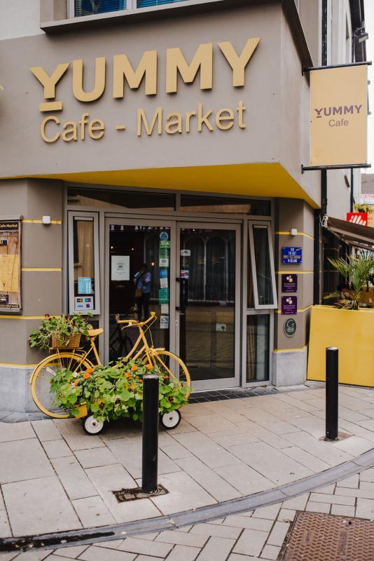 Bike outside Cafe